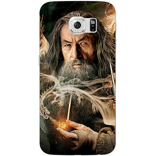 Jugaaduu LOTR Hobbit Gandalf Back Cover Case For Samsung S6 Edge - J600358