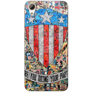 Jugaaduu Superheroes Captain America Back Cover Case For HTC Desire 626G+ - J940333
