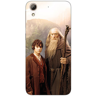 Jugaaduu LOTR Hobbit Gandalf Frodo Back Cover Case For HTC Desire 626G+ - J940357