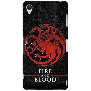 Jugaaduu Game Of Thrones GOT House Targaryen  Back Cover Case For Sony Xperia Z4 - J580200