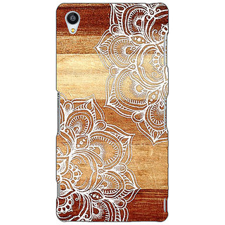Jugaaduu White Brown Doodle Pattern Back Cover Case For Sony Xperia Z4 - J580212