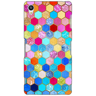 Jugaaduu Coloured Hexagon Pattern Back Cover Case For Sony Xperia Z4 - J580225