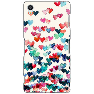 Jugaaduu Hearts in the Air Pattern Back Cover Case For Sony Xperia Z4 - J580234