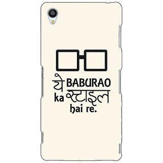 Jugaaduu Bollywood Superstar Hera Pheri Baburao Style Back Cover Case For Sony Xperia Z4 - J581088