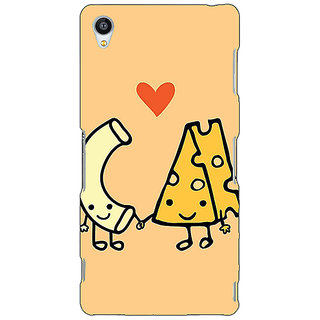 Jugaaduu Cheese Donut Love Back Cover Case For Sony Xperia Z4 - J581133