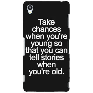 Jugaaduu Quote Back Cover Case For Sony Xperia Z4 - J581476