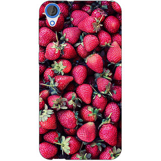 Jugaaduu Strawberry Pattern Back Cover Case For HTC Desire 826 - J590201