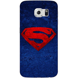 Jugaaduu Superheroes Superman Back Cover Case For Samsung S6 Edge - J600022