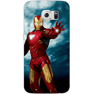 Jugaaduu Superheroes Ironman Back Cover Case For Samsung S6 Edge - J600031