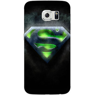 Jugaaduu Superheroes Superman Back Cover Case For Samsung S6 Edge - J600389