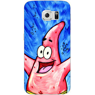 Jugaaduu Spongebob Patrick Back Cover Case For Samsung S6 Edge - J600463