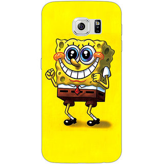 Jugaaduu Spongebob Back Cover Case For Samsung S6 Edge - J600470
