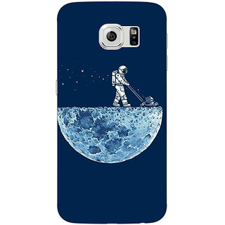 Jugaaduu Moon Walking Back Cover Case For Samsung S6 Edge - J600830