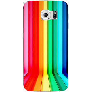 Jugaaduu Colour Bars Back Cover Case For Samsung S6 Edge - J600833