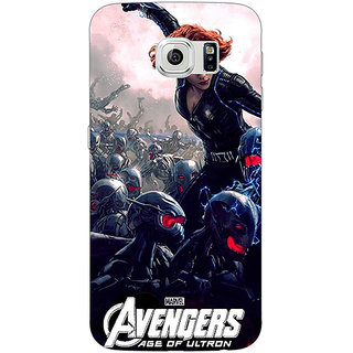 Jugaaduu Super Heroes Avengers Age of Ultron Back Cover Case For Samsung S6 Edge - J600843