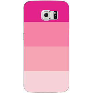 Jugaaduu Pink Stripes Back Cover Case For Samsung S6 Edge - J601147