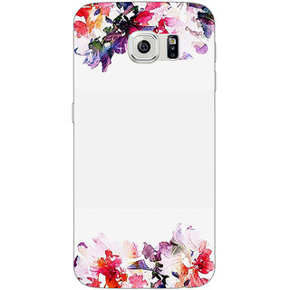 Jugaaduu Flowers Back Cover Case For Samsung S6 Edge - J601150