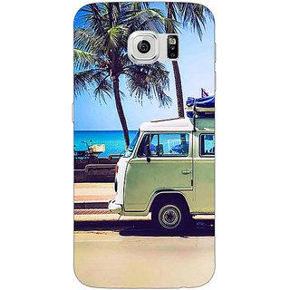 Jugaaduu Summer Van Back Cover Case For Samsung S6 Edge - J601160