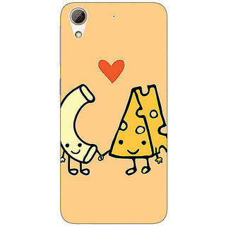 Jugaaduu Cheese Donut Love Back Cover Case For HTC Desire 626G+ - J941133