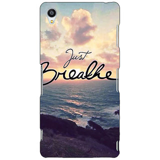 Jugaaduu Quote Sky Just Breathe Back Cover Case For Sony Xperia Z4 - J581161