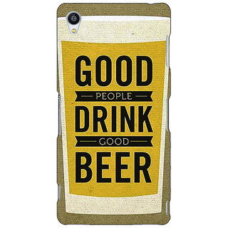 Jugaaduu Beer Quote Back Cover Case For Sony Xperia Z4 - J581220