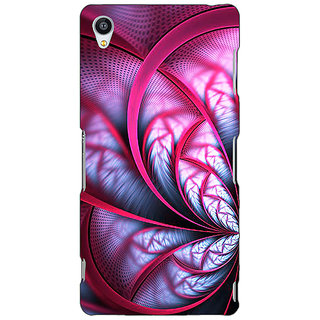 Jugaaduu Abstract Flower Pattern Back Cover Case For Sony Xperia M4 - J611501