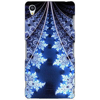 Jugaaduu Abstract Snow Flake Pattern Back Cover Case For Sony Xperia M4 - J611503