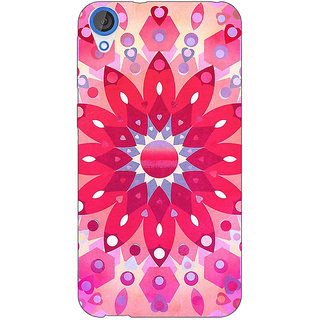 Jugaaduu Red Flower Pattern Back Cover Case For HTC Desire 826 - J590256
