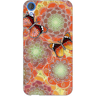Jugaaduu Butterflies Pattern Back Cover Case For HTC Desire 826 - J590261