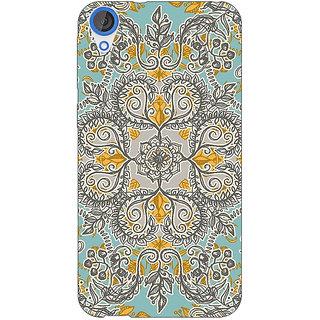 Jugaaduu Vintage Floral Pattern Back Cover Case For HTC Desire 826 - J590262
