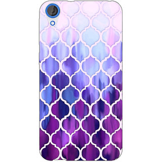 Jugaaduu White Purple Moroccan Tiles Pattern Back Cover Case For HTC Desire 826 - J590297