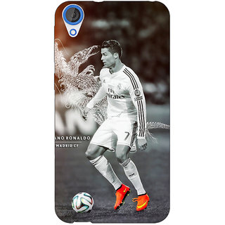 Jugaaduu Cristiano Ronaldo Real Madrid Back Cover Case For HTC Desire 826 - J590312