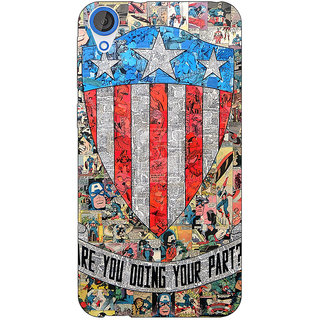 Jugaaduu Superheroes Captain America Back Cover Case For HTC Desire 826 - J590333