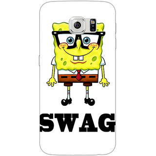 Jugaaduu Spongebob Back Cover Case For Samsung S6 Edge - J600473