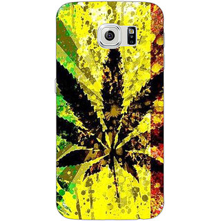 Jugaaduu Weed Marijuana Back Cover Case For Samsung S6 Edge - J600497