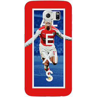 Jugaaduu Arsenal Alexis Sanchez Back Cover Case For Samsung S6 Edge - J600506