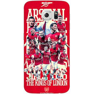 Jugaaduu Arsenal Back Cover Case For Samsung S6 Edge - J600518