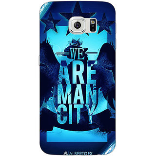 Jugaaduu Manchester City Back Cover Case For Samsung S6 Edge - J600578