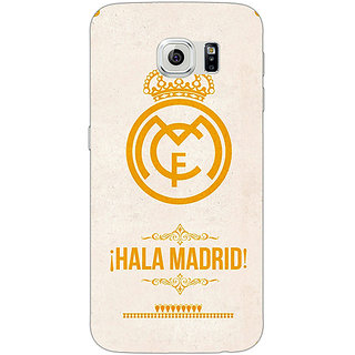 Jugaaduu Real Madrid Back Cover Case For Samsung S6 Edge - J600593