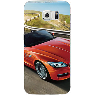 Jugaaduu Super Car BMW Back Cover Case For Samsung S6 Edge - J600615