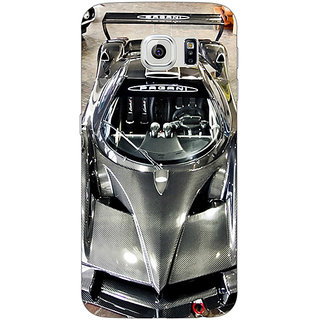 Jugaaduu Super Car Pagani Back Cover Case For Samsung S6 Edge - J600623