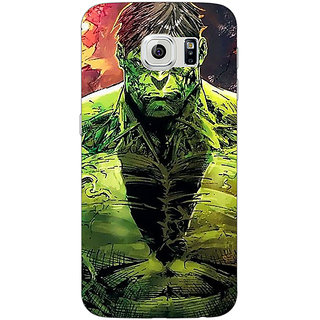 Jugaaduu The Incredible Hulk Back Cover Case For Samsung S6 Edge - J600859