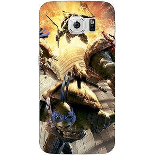 Jugaaduu Ninja Turtles Back Cover Case For Samsung S6 Edge - J600889