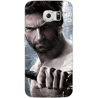 Jugaaduu Wolverine Hugh Jackman Back Cover Case For Samsung S6 Edge - J600893