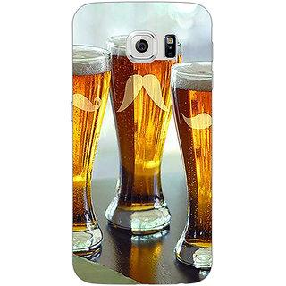 Jugaaduu Beer Glasses Back Cover Case For Samsung S6 Edge - J601202