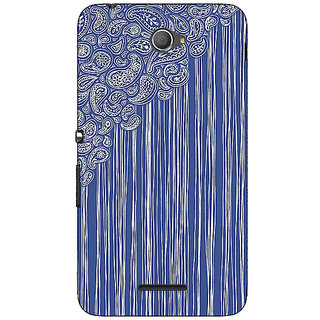 Jugaaduu Beauty Curtains Pattern Back Cover Case For Sony Xperia E4 - J620239