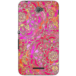 Jugaaduu Hot Floral  Pattern Back Cover Case For Sony Xperia E4 - J620241
