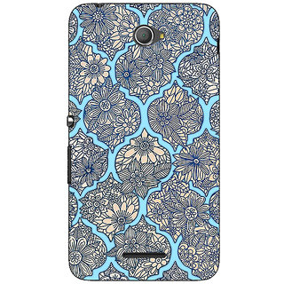 Jugaaduu Sky Morroccan Pattern Back Cover Case For Sony Xperia E4 - J620244