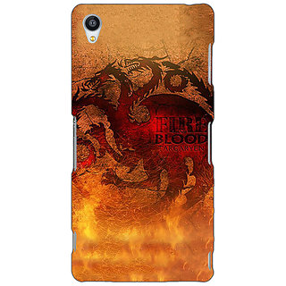 Jugaaduu Game Of Thrones GOT House Targaryen Back Cover Case For Sony Xperia M4 - J611550