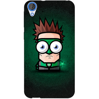 Jugaaduu Big Eyed Superheroes Green Lantern Back Cover Case For HTC Desire 826 - J590399